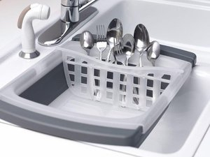 Wash, dry and store cooking and eating utensils and silverware