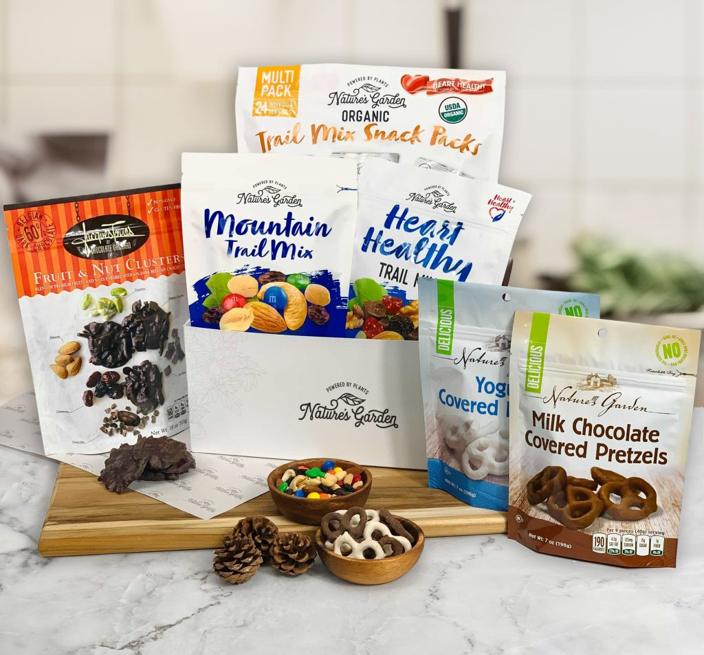 natures garden holiday box of snacks