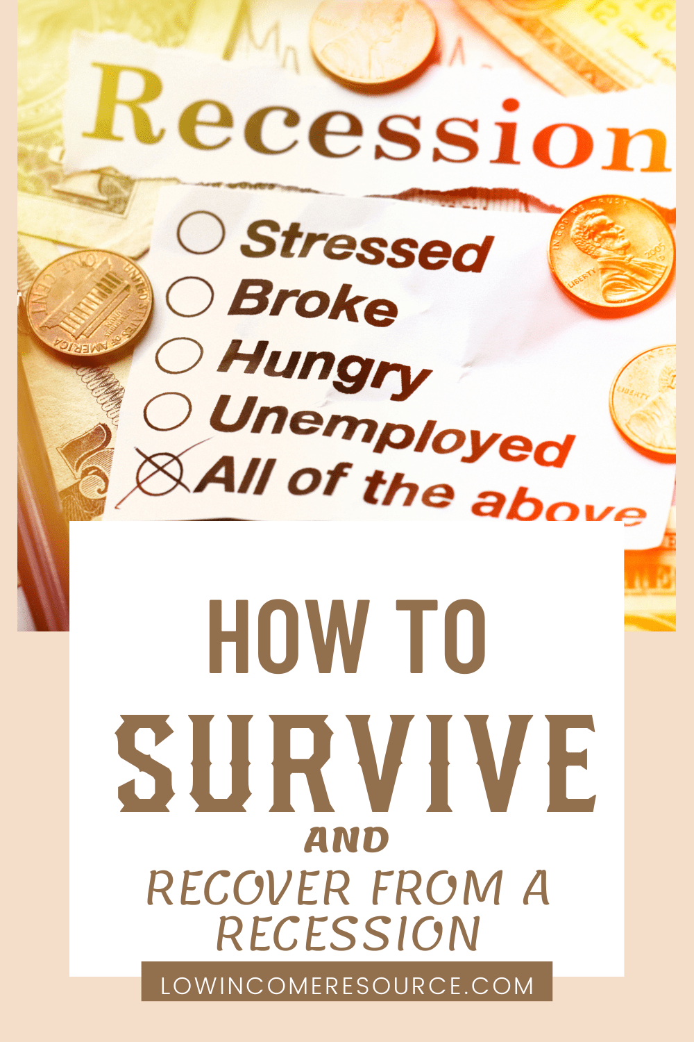 how to recover from a recession
